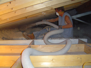Attic Cellulose Installation